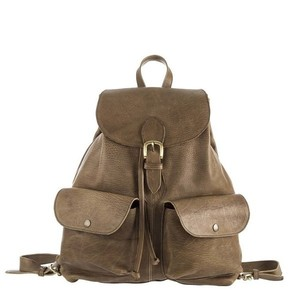 Unisex Leather Backpack
