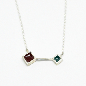 """Colors & Shapes"" II necklace silver"