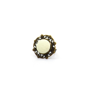 Mint Button Ring