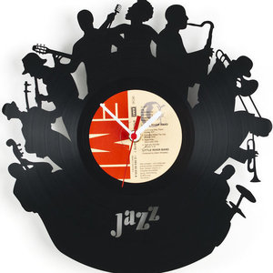 All Jazz Music Vinyl Record Wall Clock