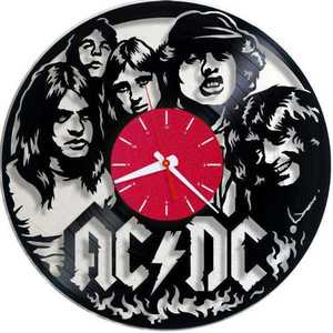 AC/DC Rock Band Vinyl Records Wall Clock