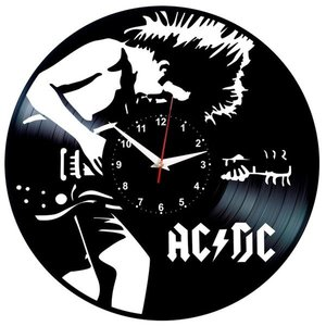ACDC Angus Young HARD ROCK VINYL RECORD WALL CLOCK