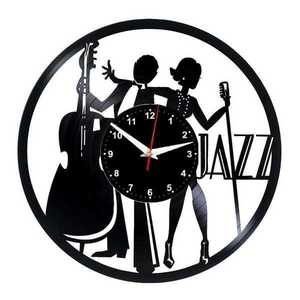 Jazz Man jazz woman , Music Vinyl Record Wall Clock