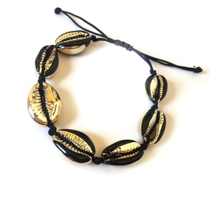 Black&gold seashell bracelet