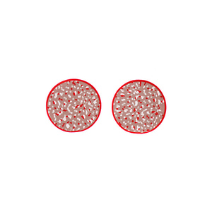 """Eros"" red stud earrings"