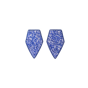 """Forever"" blue stud earrings"
