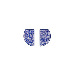 """Galaxy"" blue geometrical earrings"