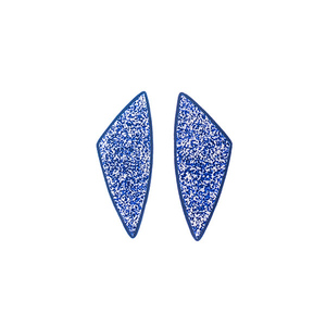 """Immortal"" blue geometrical stud modern earrings"