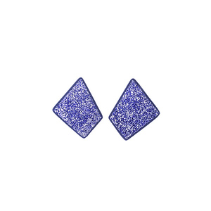 """Shield"" stud blue summerish earrings"