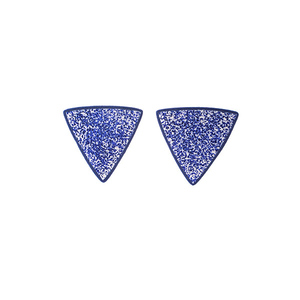 """Arrow"" minimal blue earrings"