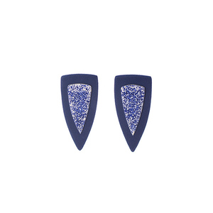 """Poseidon"" blue modern earrings"
