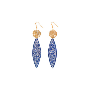 """Myth"" elegant blue earrings"