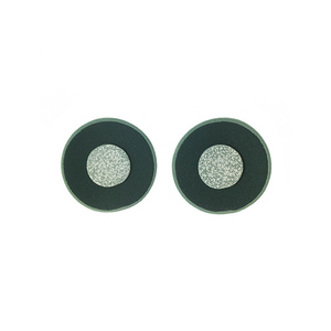 """Silence"" green circular earrings"