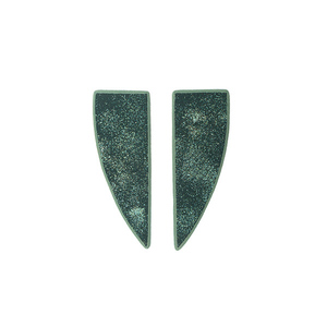 """Artemis"" green stud earrings"