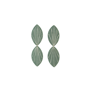 """Diana"" elegant light green stud earrings"