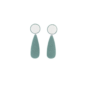 """Divine"" fashion stud light green earrings"