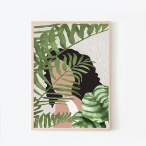 psithurism | artprint with plants | 50x70 - αφίσες, minimal