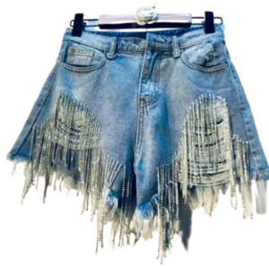 Jean shorts- Party look