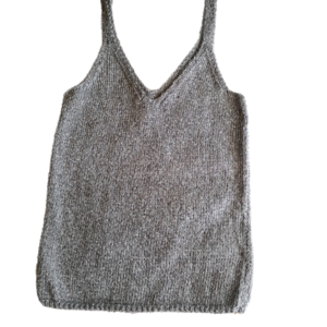 knitted top silver
