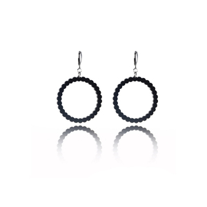 earrings.plexiglass,BLACK,steel,Geometric,(code 1bl) - κρεμαστά, plexi glass, ατσάλι, μεγάλα