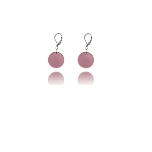 earrings.plexiglass,PINK,steel,Geometric,(code3p) - κρεμαστά, plexi glass, ατσάλι, μεγάλα