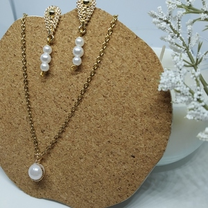Pearl classy set - charms, ορείχαλκος, ατσάλι, πέρλες, φθηνά