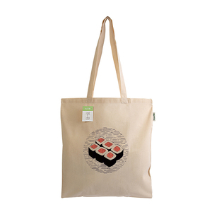 Tote Bag Sushi Organic Cotton - ώμου, tote, ύφασμα, πάνινες τσάντες